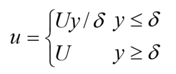 Solved: The Simplest Approximation For The Velocity U=u(x
