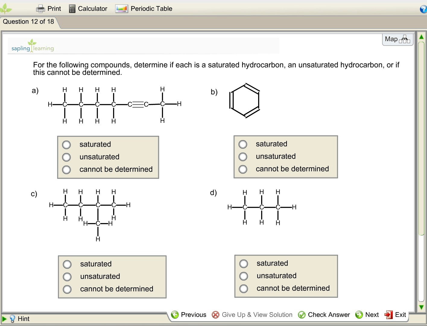 Solved For The Following Compounds Determine If Each Is