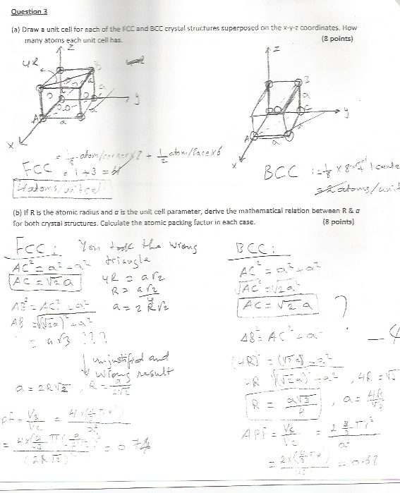 Solved: Draw The Unit Cell For Each Of The FCC And BCC Cry