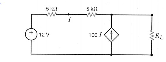 Solved: In The Circuit Shown, Find The Value Of RL That Wi