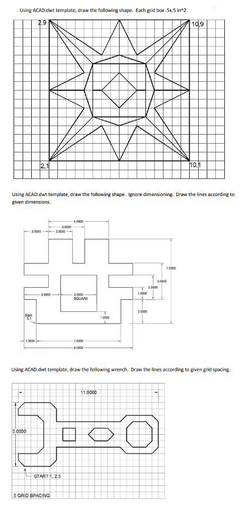 Solved: Simple Autocad Drawings Please Draw The Following
