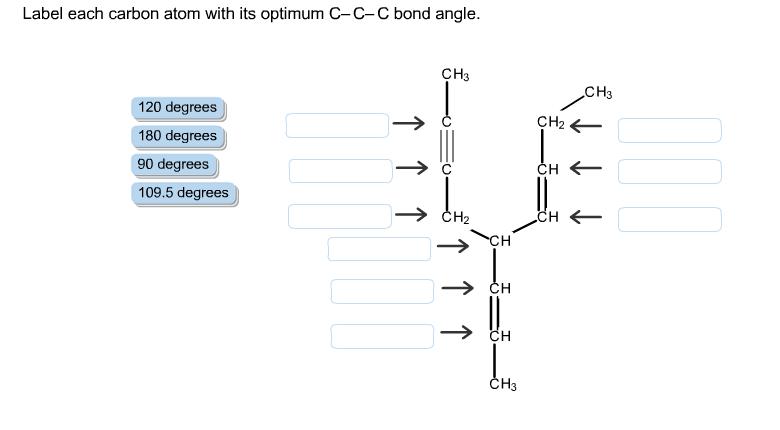 Solved: Label Each Carbon Atom With Its Optimum C-C-C Bond