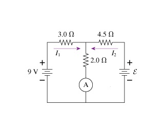 Solved: The Ammeter In The Figure Reads 7.0A . Find I1, I2