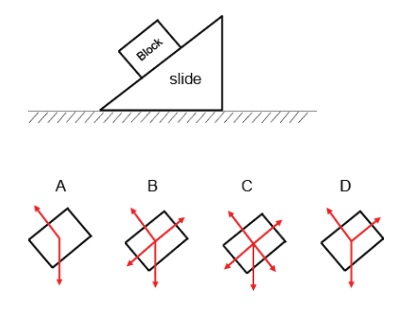 Solved: A Block Sits At Rest And Stays At Rest On A Slide
