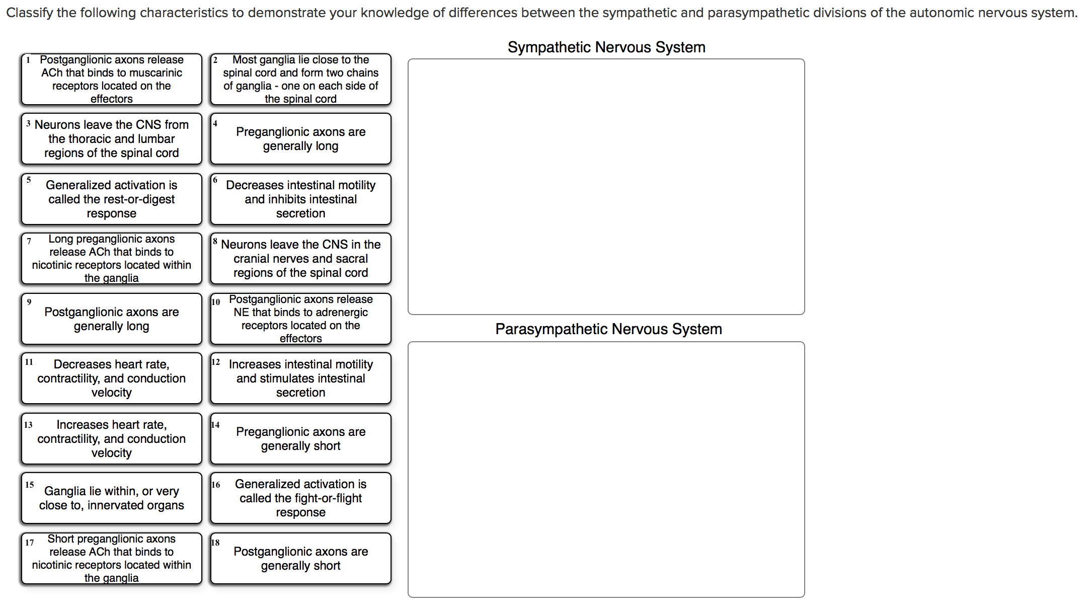 Solved: Classify The Following Characteristics To Demonstr