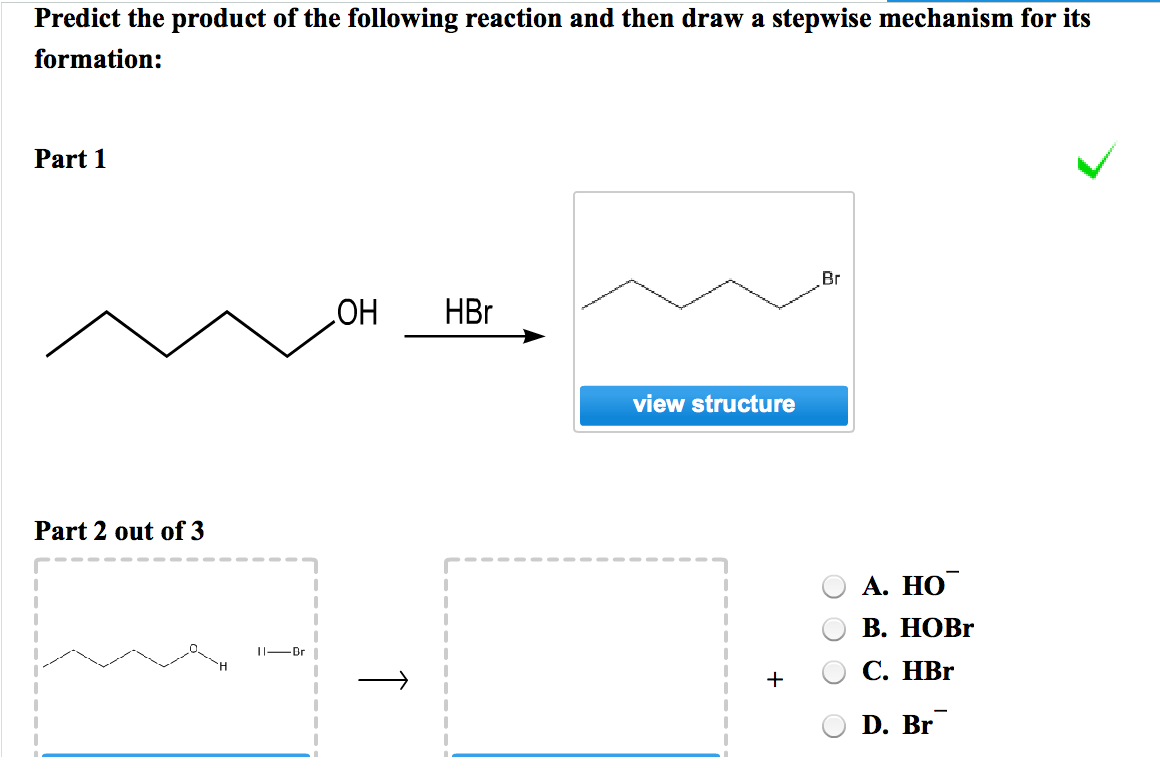 Solved: Predict The Product Of The Following Reaction And