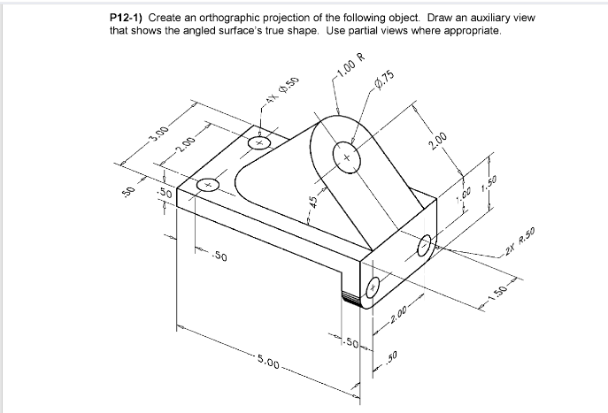 Orthographic Projection Solved Examples Pdf