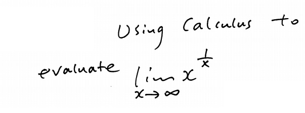 Solved: Using Calculus To Evaluate Lim X Rightarrow Infini