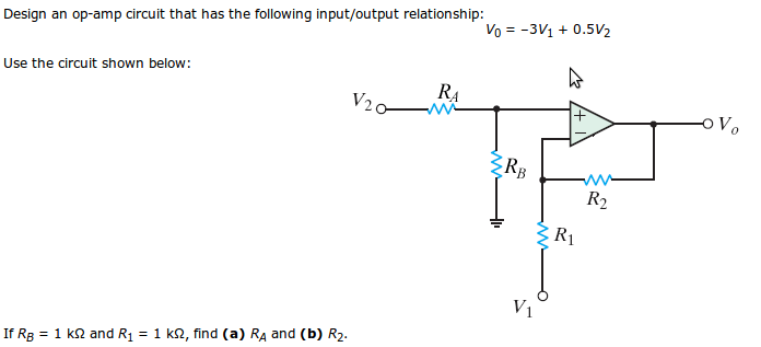Design An Op-amp-based Circuit To Produce The Func