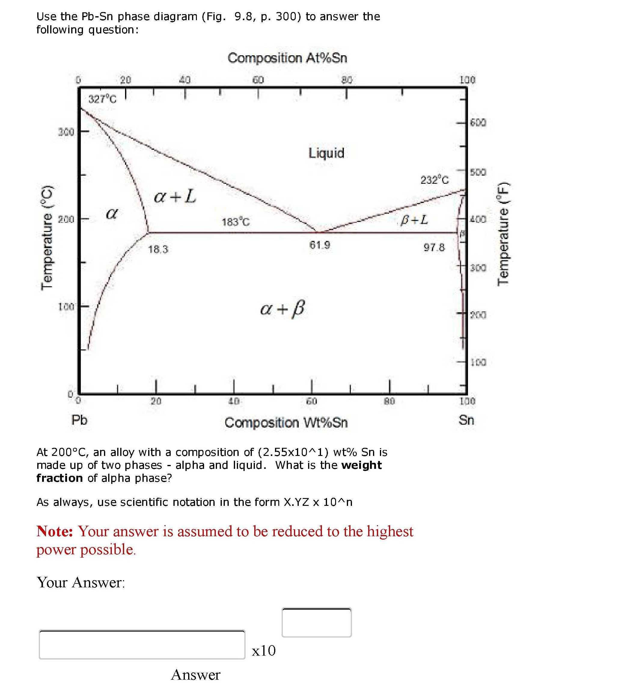 phase diagram about notes 2000 dodge caravan belt solved use the pb sn fig 9 8 p 300 to