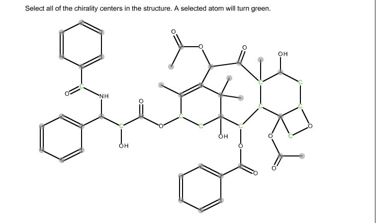 Solved: Select All Of The Chirality Centers In The Structu