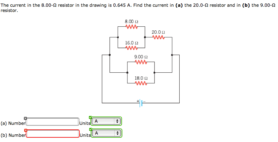 Solved: The Current In The 8.00-Ohm Resistor In The Drawin