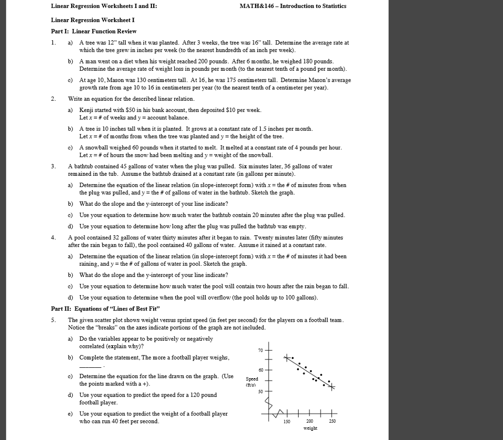 Math Amp 146 Introduction To Statistics Linear Regress