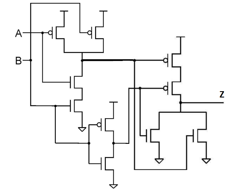 Solved: For The Transistor-level Circuit Below, Fill In Th