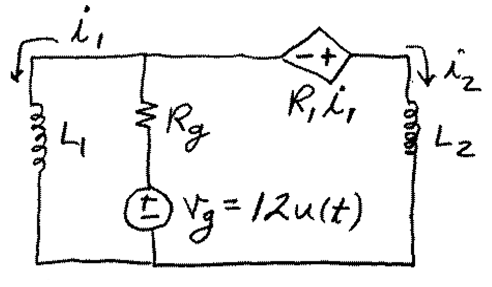 Solved: Find I1(0-) And I2(0-) Given That R1 = 5 Ohms And