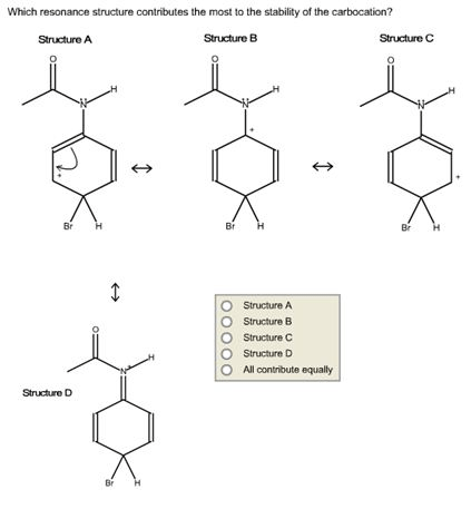 Solved: Which Resonance Structure Contributes The Most To