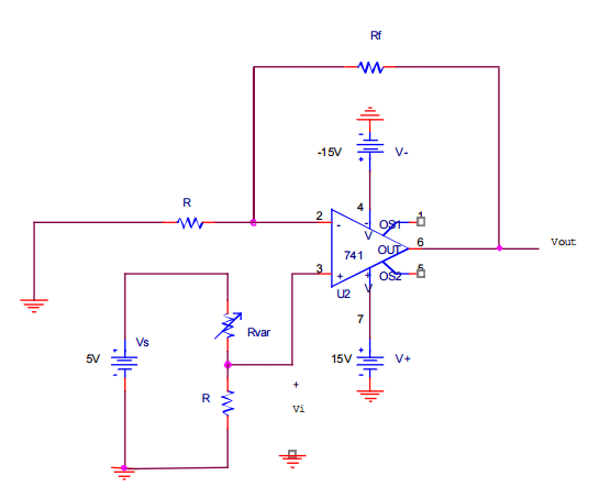 circuit diagram of non inverting amplifier psc fan motor wiring 4 1 experiment fig 7 o