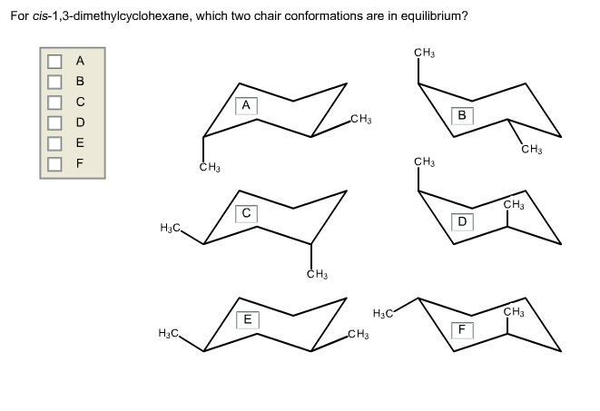 Solved: For Cis-1,3-dimethylcyclohexane, Which Two Chair C