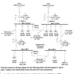 Sequence Diagram Questions And Answers Chevy 4 Pin Trailer Wiring The One Line Of A Power System Is Shown Be