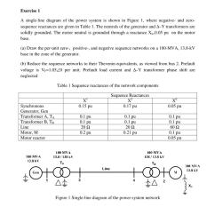 Sequence Diagram Questions And Answers Molecular Orbital For H2 Solved Exercise 1 A Single Line Of The Power Syst