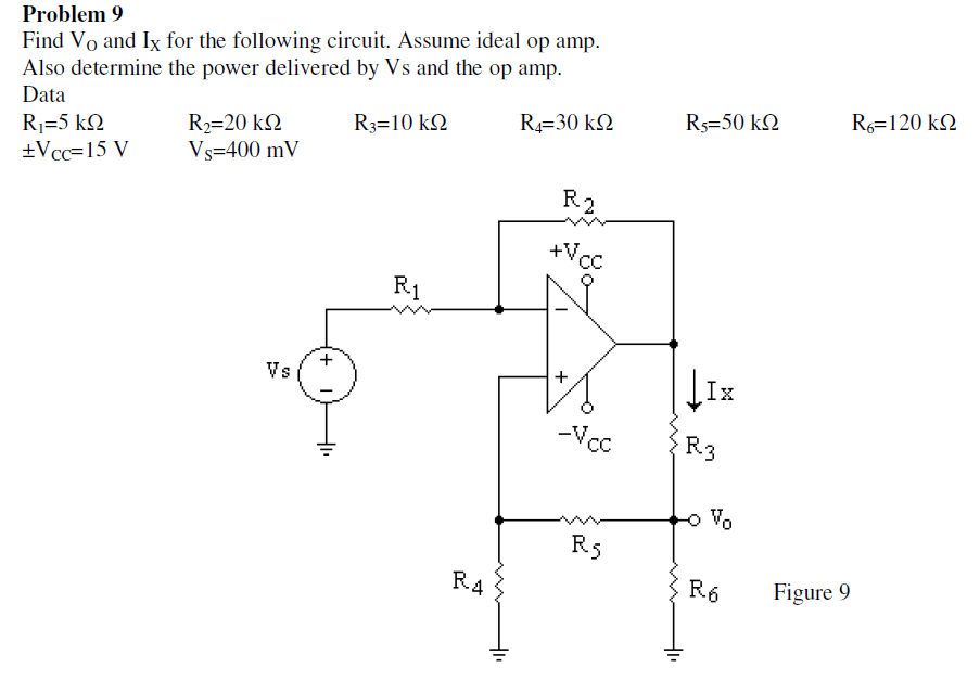 Solved: Find Vo And Ix For The Following Circuit. Assume I