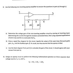 Circuit Diagram Of Non Inverting Amplifier Ecu Wiring Hyundai Solved 3 Use The Following Opamp