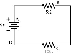 Solved: A 9 Volt Battery Is Hooked Up To Two Resistors In