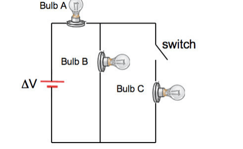 Solved: In The Circuit Below All Three Light Bulbs Have Id