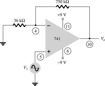 Solved: Calculate The Output Voltage Of The Circuit Of Fig