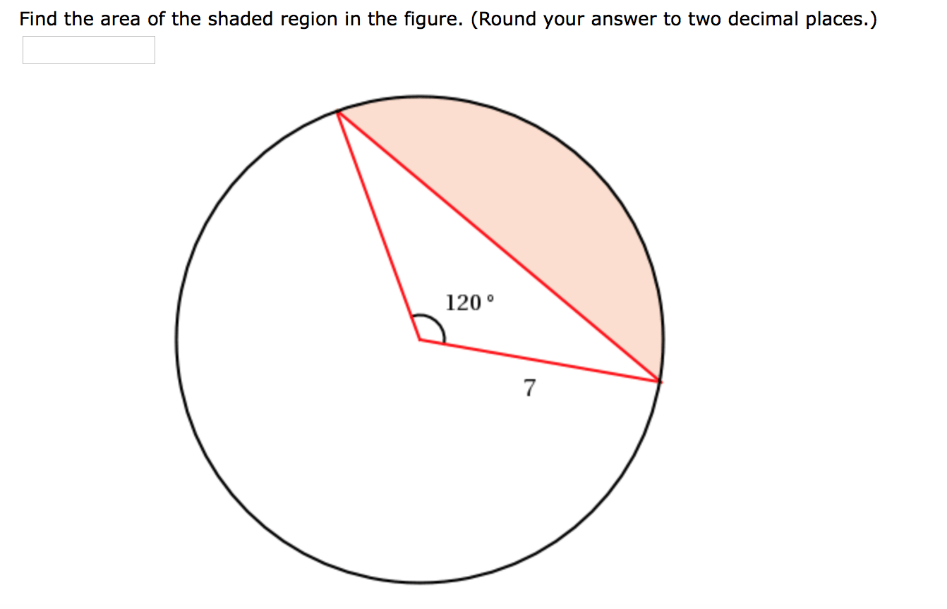 Solved Find The Area Of The Shaded Region In The Figure
