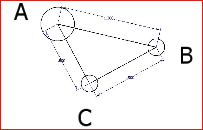 Solved: Three Point Masses Are Arranged As Shown In The Di