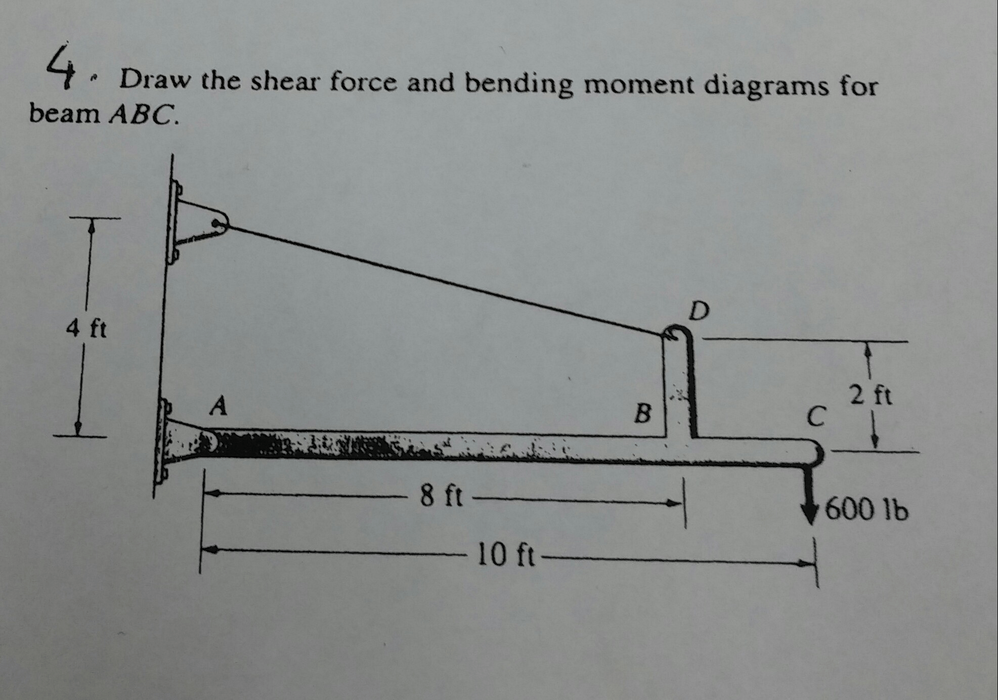 draw the shear and bending moment diagrams for beam hampton bay wiring diagram solved force t