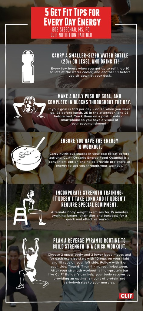 5 Get Fit Tips For Every Day Energy Live Life Active Fitness Blog