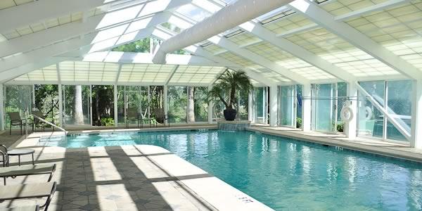 indoor pool at the Florencia Condominium