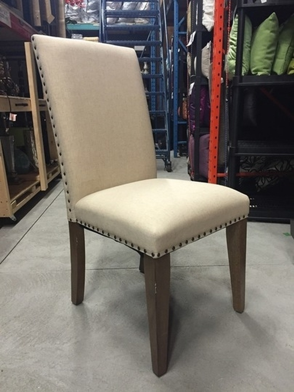 Studded Dining Chairs Home Designs Staging Group Inc Products Chairs Cream