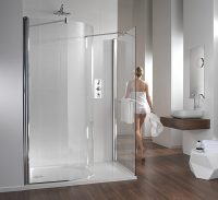 Twyford Hydr8 Walk In Curved Shower Panel 1400mm - H80920CP