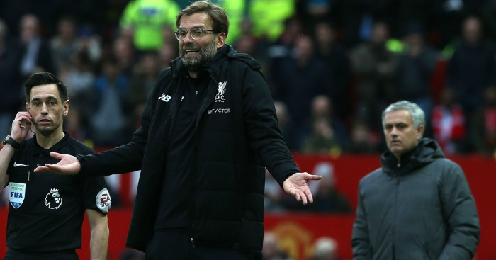 Image result for Jurgen Klopp believes Liverpool have perfect opportunity to strike back against Manchester United despite disappointing Old Trafford record