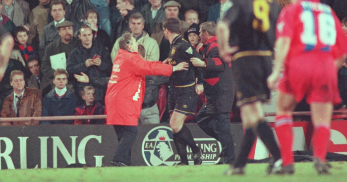 It's a neat way of dehumanising the gobby fan he dealt with when he tried to kick racism out of football on 25 january 1995. Man United Winger Reveals Squad Reaction To Cantona Kick Football365