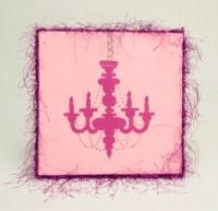 Pink Chandelier Wall Art | FaveCrafts.com