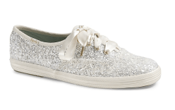Keds x Kate Spade glittery sneakers, US$80, available at Keds