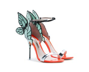 Sophia Webster 'Chiara' heels in mint, POA, available at On Pedder