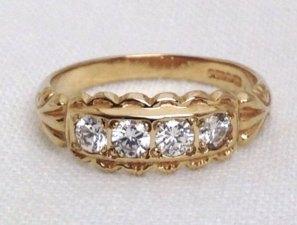 Vintage diamond ring, $600.71, via Etsy