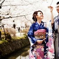 Pre-wedding photoshoots in Japan: Lex and Wein's incredible Kyoto shoot during cherry blossom season