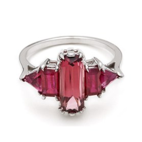 'Theda' pink tourmaline ring, US$6,925, from Anna Sheffield