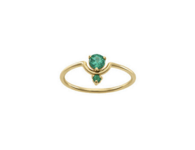 Nestled emerald wing by WWAKE, US$1,300, from Ylang 23