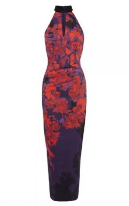Oriental Floral Print Maxi dress