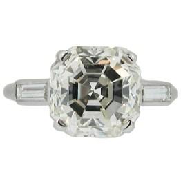 Similar to an emerald cut, the Asscher cut is octagonal. Photo: Cartier