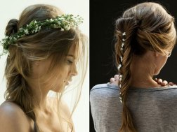 Love Katniss? Mimic her signature style with these gorgeous braids and flowers in your hair. Photo: Daniel Gurton