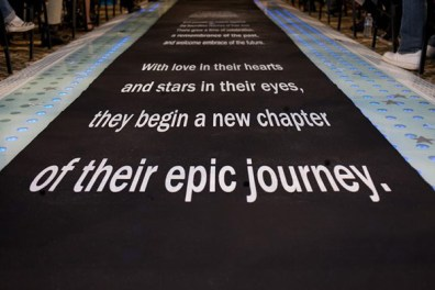 Make a statement as you walk down the aisle with this runner. Photo: I do Aisle Runners