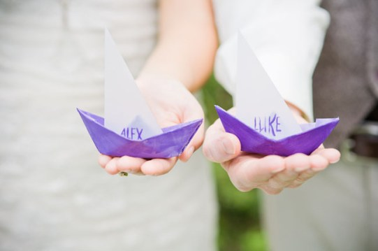 Reminiscent of the box Max sails away in, get guests to write their names on paper boats and watch them stream down a nearby river. PhotoL Tin Can Photography